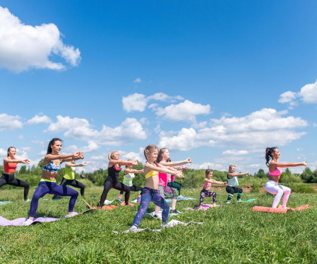 Group fitness classes are a great way for parents to get a workout in Melbourne. *(Image: Getty Images)*
