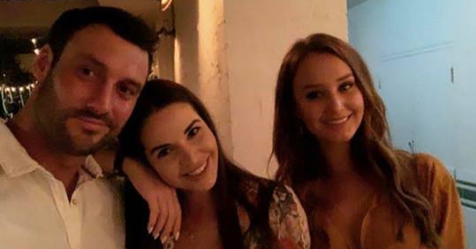 Charlie and Dasha enjoyed drinks with fellow *Bachelor* alum Emily Dibden earlier this month. *Source: Instagram.*