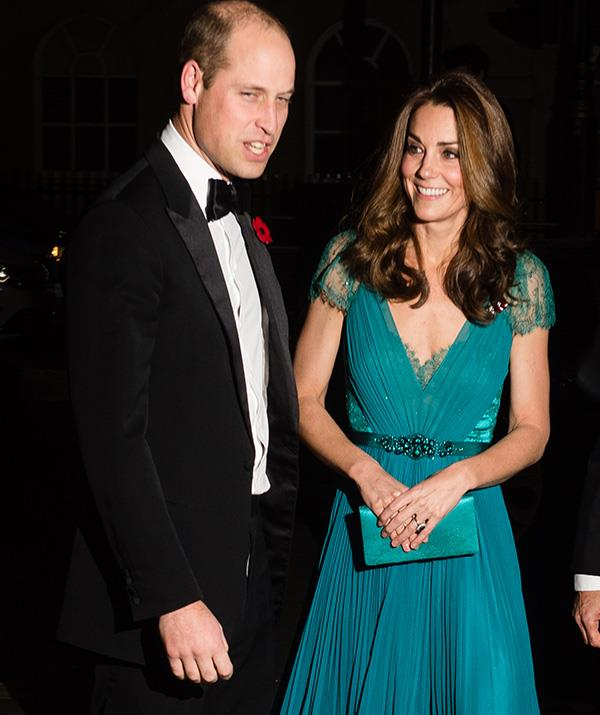 Wills and Kate looked glamorous for a night away from the kids! *(Image: Getty)*