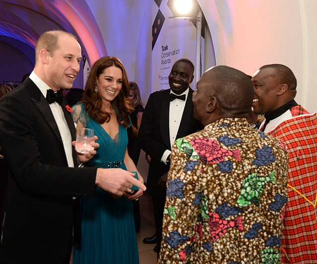The royal couple mingled with guests during the event.
