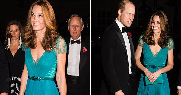 81cf4de96bf Duchess Catherine stuns in a gown from six years ago - proving style and  thriftiness aren t mutually exclusive