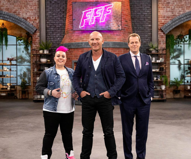 Anna has putting Aussie home chefs to the challenge as a judge on Family Food Fight. *(Image: Nine Network)*