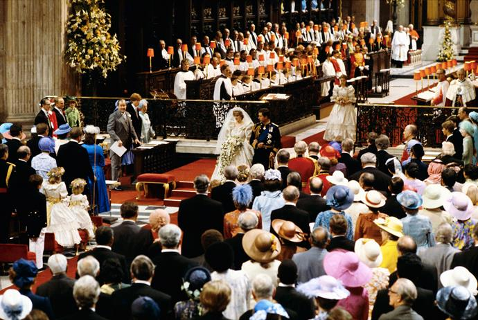 Hats of all shapes and colours brightened up the ceremony. *(Image: Getty)*