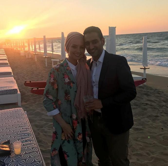 Susan with her husband, Waleed Aly.