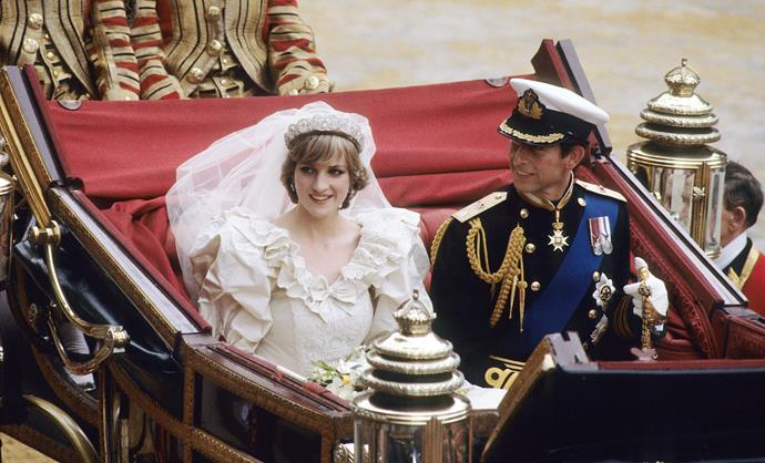 Crowds flocked to get an eyeful of the royals on their big day. *(Image: Getty)*