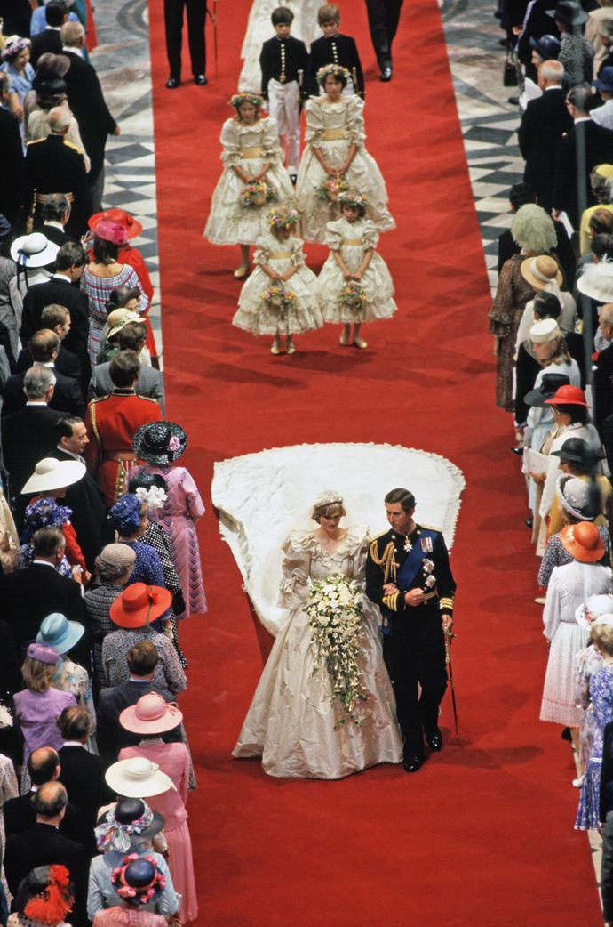 "The bridesmaids certainly looked better behaved than [some of the young royal wedding entourages](https://www.nowtolove.com.au/royals/british-royal-family/prince-george-princess-charlotte-wedding-51398|target=""_blank"") we've seen of late! *(Image: Getty)*"