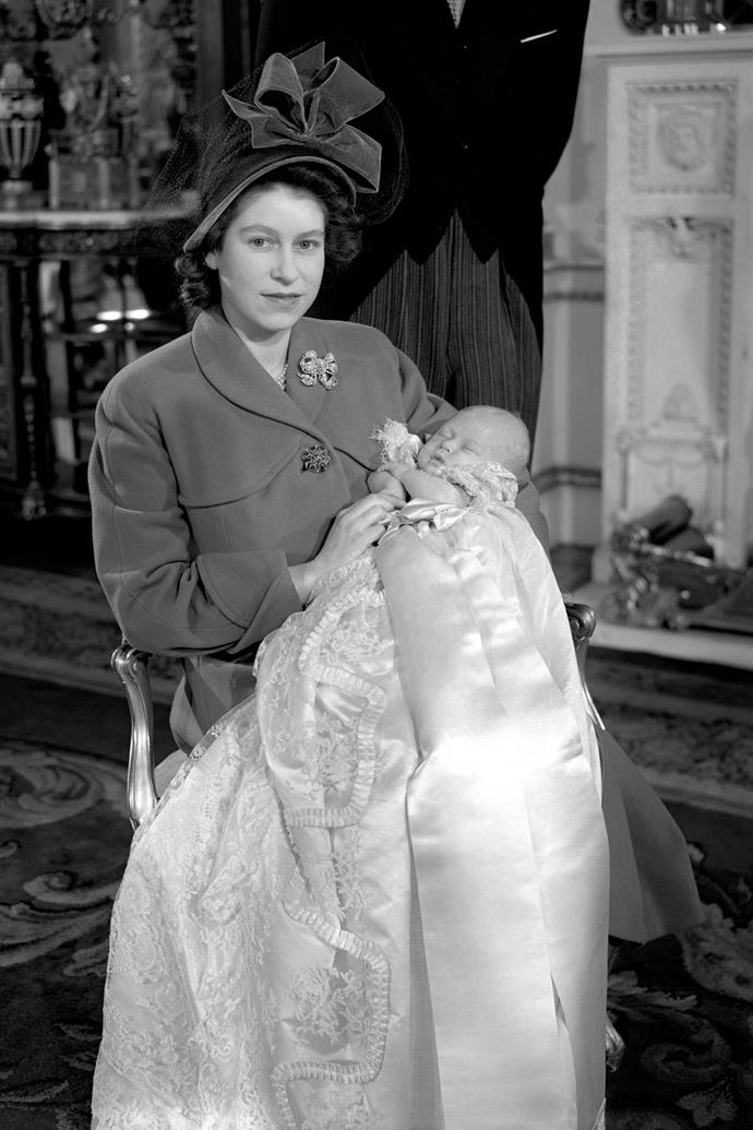 A royal baby debut! The world swooned as the first pictures of the future King of England surfaced after his birth in November 1948. *Image: Getty Images*