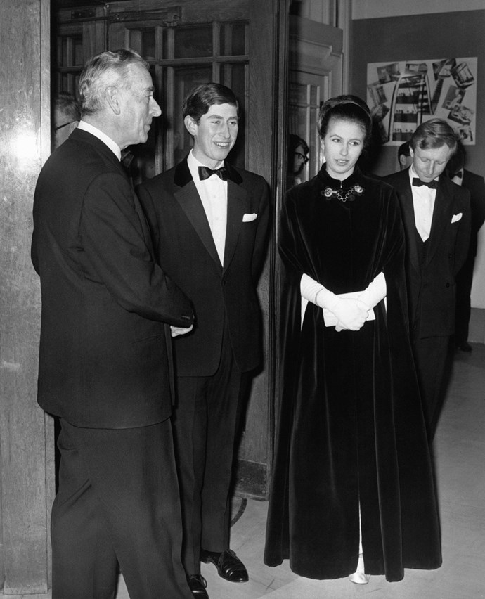 Dressed to the nines! A teenage Charles and Anne donned their glad rags for an evening soiree. *Image: Getty Images*