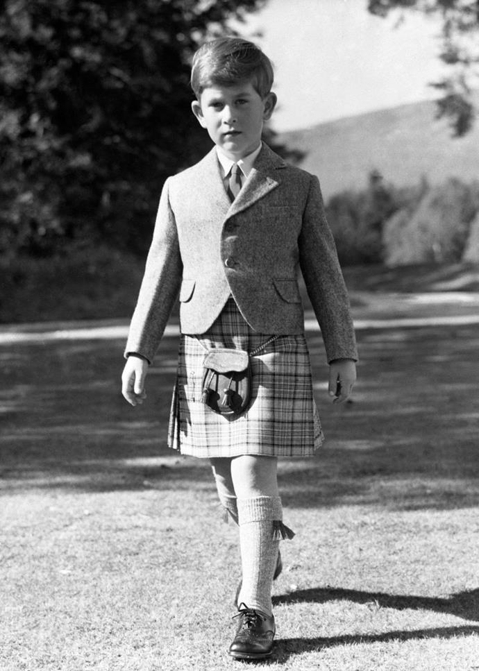 Charles was already on the way to becoming quite the gentleman, as captured in this image from 1955. *Image: Getty Images*