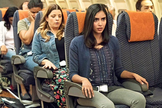 Saanvi is a passenger aboard Flight 828 in *Manifest.*
