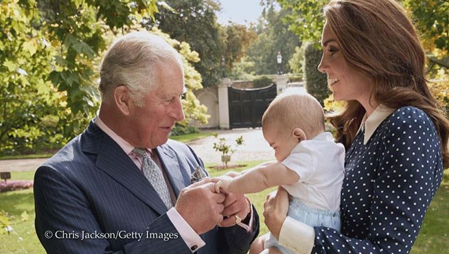 The doting grandfather is besotted with his youngest grandchild! *(Image: Chris Jackson/Getty Images)*