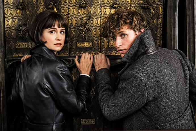 Half-blood witch Tina (Katherine Waterston) and Newt.