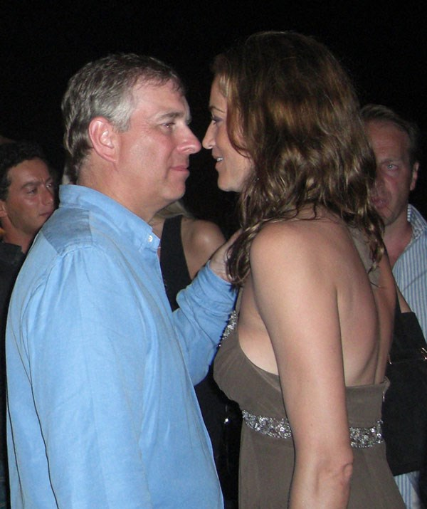 Prince Andrew dancing and living it up in St Tropez in 2007. *(Image: Jeff Rayner/Coleman-Rayner)*
