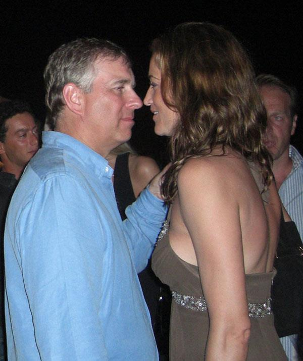 Prince Andrew dancing and living it up in St Tropez in 2007.