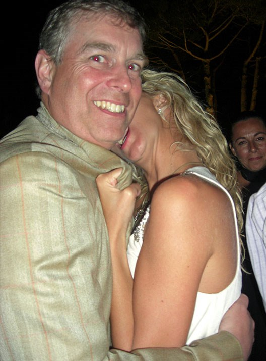 The Duke of York with a blonde woman in St Tropez in 2007. *(Image: Jeff Rayner/Coleman-Rayner)*