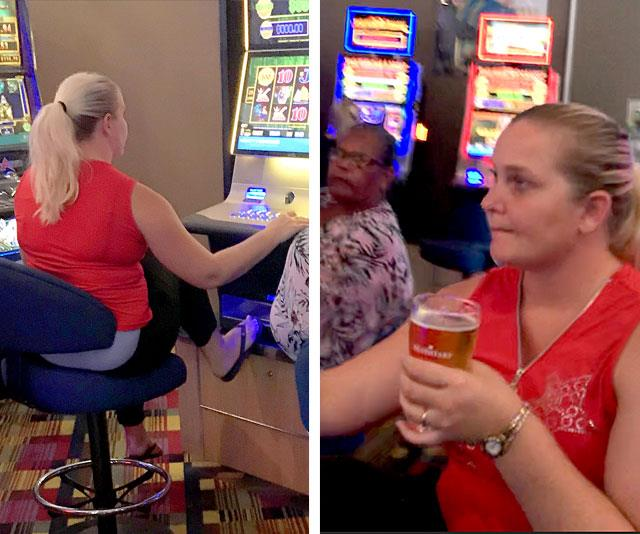 A brand-new life: The mum-of-three enjoys the tropical climate, the school run and playing the pokies with her husband. *(Image: Jeff Rayner/Coleman-Rayner)*