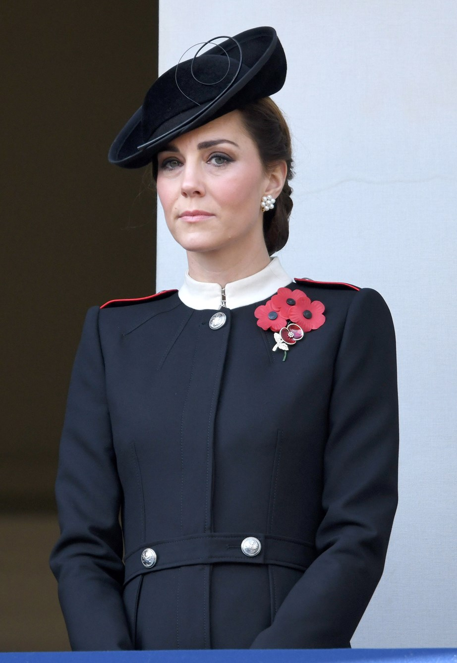 Duchess Catherine watched the service sombrely.