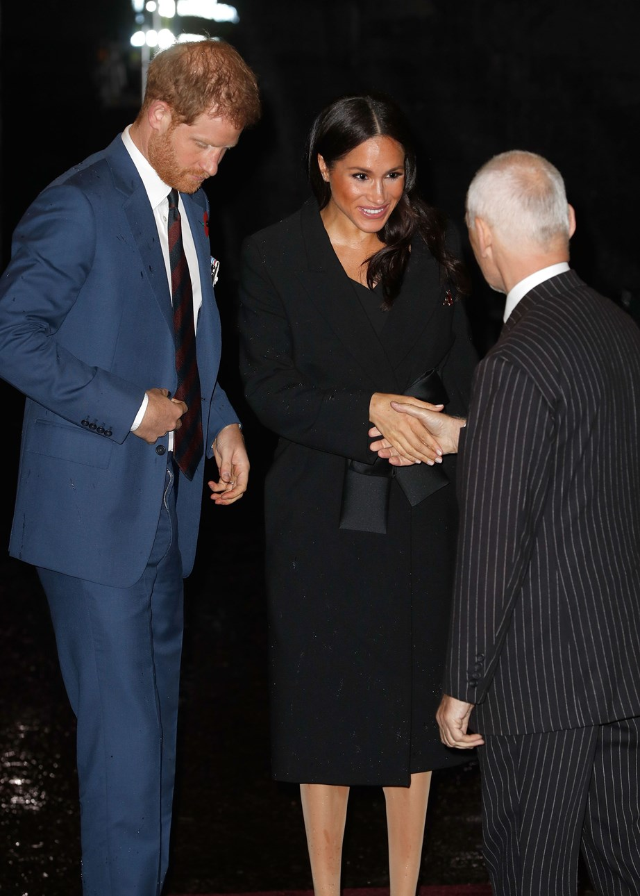 Duchess Meghan looked radiant as she entered the event.