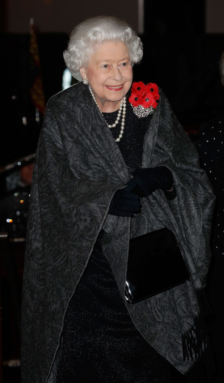 The Queen looked stunning as she made her grand entrance.