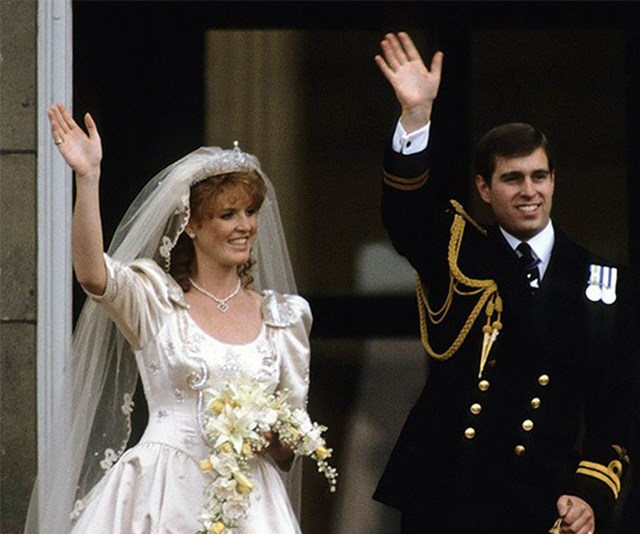 Prince Andrew and Sarah Ferguson on their wedding day. *(Image: Getty Images)*