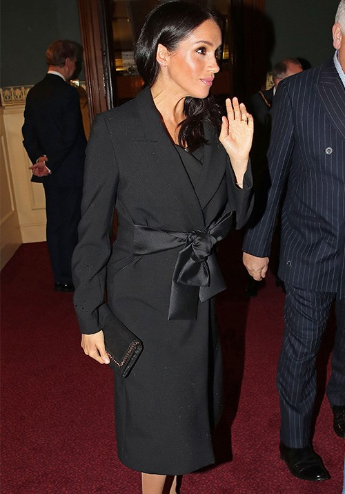 The Duchess stepped out in a stunning Stella McCartney number for the Royal Festival for Remembrance over the weekend. That bow was the perfect accessory for her ever-growing bump! *(Image: Getty Images)*