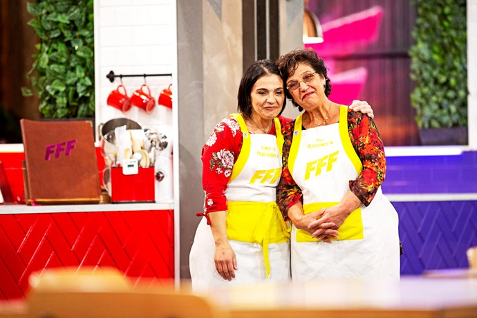 Pina and Concetta on *Family Food Fight.*