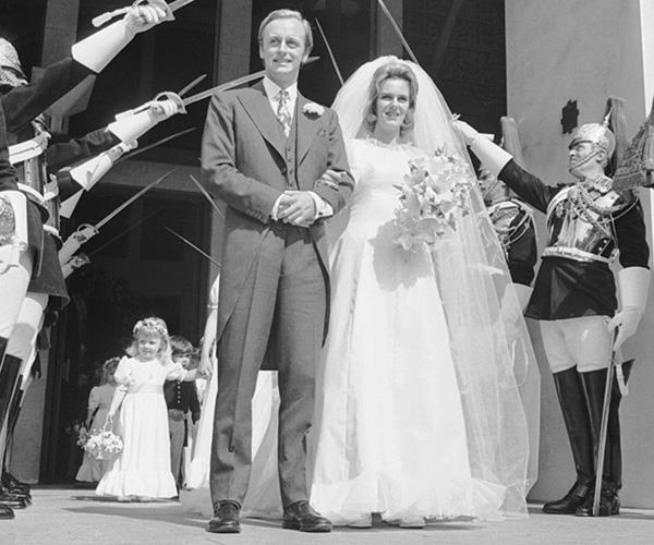 Camilla married her on-again, off-again boyfriend Andrew Parker Bowles in 1973. *(Image: Getty Images)*