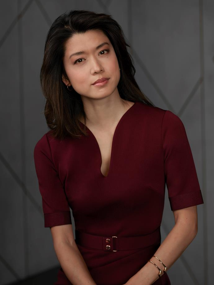 **KATHERINE KIM (GRACE PARK)** <br><br> Eddie's wife has no idea of her husband's dalliances – or that Jon offered Eddie money to help him leave her so he could be happy.