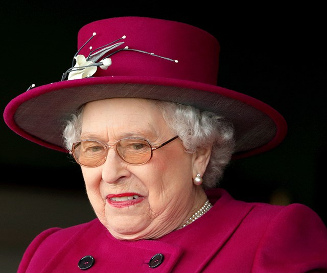 The Queen was faced with a rather unexpected surprise in her salad. *(Image: Getty)*