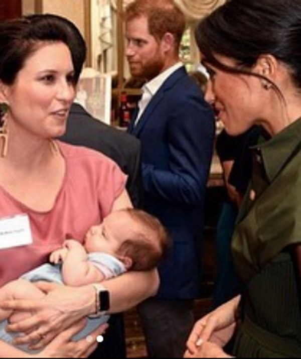 Both the Duchess and Prince Harry cooed over baby Luna. *(Image: Instagram/@missyhigginsmusic)*