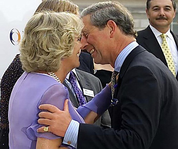 A rare moment of PDA when the royals were officially courting. *(Image: Getty Images)*