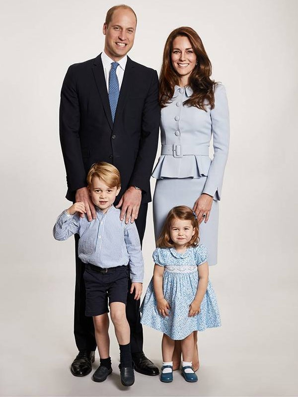 Last year, the Cambridges released this heartwarming Christmas card. *(Image: Chris Jackson/Kensington Palace)*