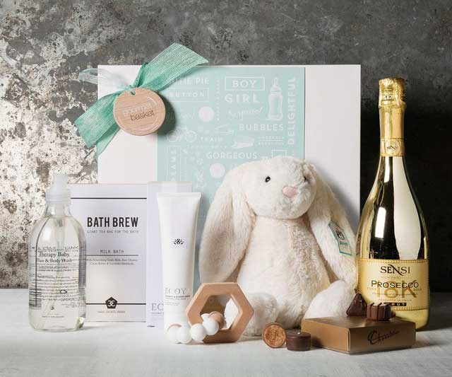 """This luxury hamper is a no-brainer with gorgeous bits for mum (come to mama, choccies and prosecco) and bub.  <br><br> [Gourmet Basket Mum and Bub Treats](https://www.myer.com.au/p/gourmet-basket-mum-and-bub-treats