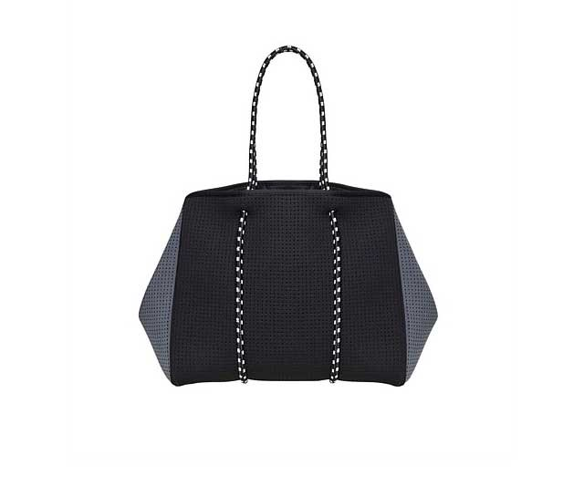 """A big bag is a pretty safe investment for any new mum, but make it a stylish one like this neoprene tote which also comes with a detachable clutch on the off chance that you find yourself leaving the house without eight million things! <br><br> [Chuchka Syd Neoprene Tote](https://www.davidjones.com/Product/21055144/Syd-Neoprene-Tote_