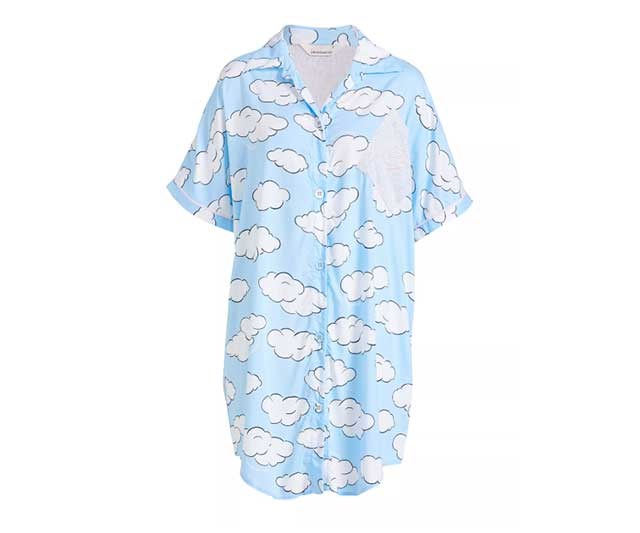 """This Peter Alexander nightie is both pretty and practical. Super cosy, the button-down front suits round-the-clock feeding and the curved hem and piping details, along with the luxe fabric, won't make you feel so bad about spending the day in PJs. One for the Christmas list as you're probably never going to spend $80 on pyjamas yourself! <br><br> [Cloud Nightshirt](https://www.peteralexander.com.au/shop/en/peteralexander/women/style/nighties/cloud-nightshirt-810215-1?colour=BLUE