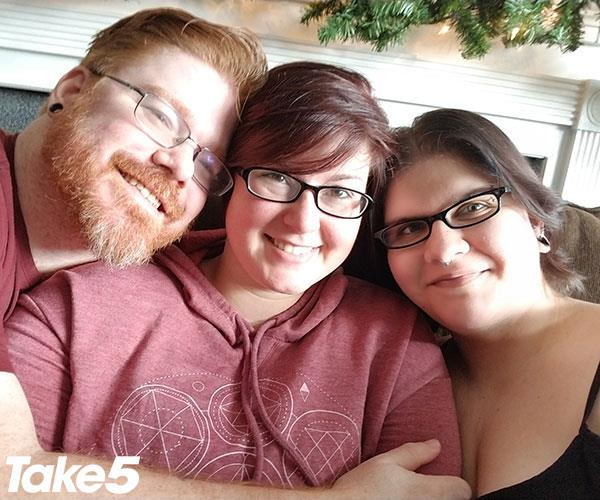 Ash, Rowan and me - a happy family.