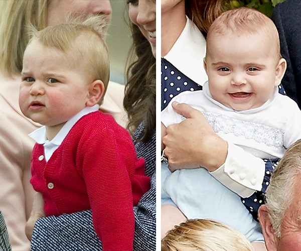 When George was Louis' age, he was the spitting image of his younger brother. *(Images: L-R Getty Images/Chris Jackson/Getty)*