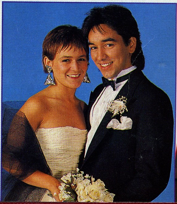 **4. Bobby & Frank** <br><br> From the moment they appeared on screen together in 1988, Bobby Simpson (Nicolle Dickson) and Frank Morgan (Alex Papps) had great chemistry. Of course, being teenagers meant their love was plagued with drama, thanks especially to evil Roo (Justine Clarke), who wanted Frank for herself. But the pair were inseparable and they eventually married.