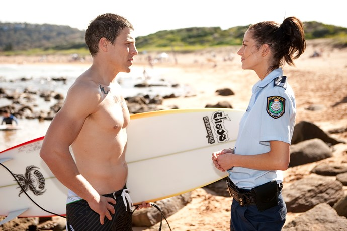 **5. Charlie & Brax**  <br><br> Brax was exciting, dangerous and no stranger to police. So when he fell for beautiful local cop Charlie Buckton, it looked as though the River Boy gang leader would finally be tamed. They were the ultimate soap couple, which also meant their love was doomed. Brax and Charlie were planning to move to the city together when she was shot by crazed crim Jake Pirovic (Fletcher Humphrys). Brax was forced to switch off Charlie's life support in 2012, ending one of the Bay's greatest love stories.