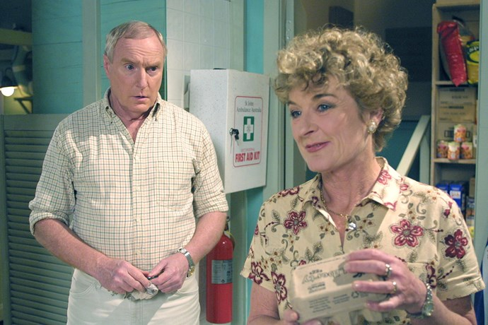 **12. Alf & Ailsa** <br><br> One of Australian TV's most iconic couples, Alf (Ray Meagher) and Ailsa Stewart (Judy Nunn) were the heart and soul of Summer Bay. No-nonsense Ailsa could cope with Alf's temper, and their rock-solid relationship withstood everything, from Ailsa's battle with postnatal depression to her nervous breakdown in the aftermath of a dramatic hold-up at the Diner. Sadly, Alf lost his soulmate Ailsa when she died of a heart attack in 2000.
