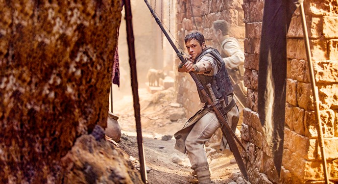Taron Egerton as the new Robin Hood.