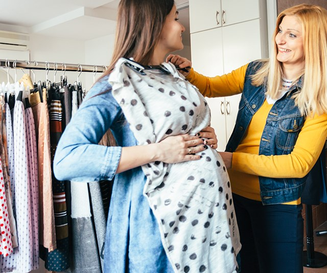With pregnancy comes a whole new wardrobe! *(Image: Getty)*