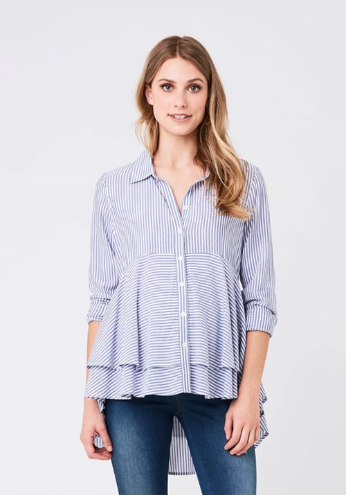 "This stripey peplum shirt from [The Iconic](https://www.theiconic.com.au/stripe-layered-peplum-shirt-691694.html|target=""_blank""