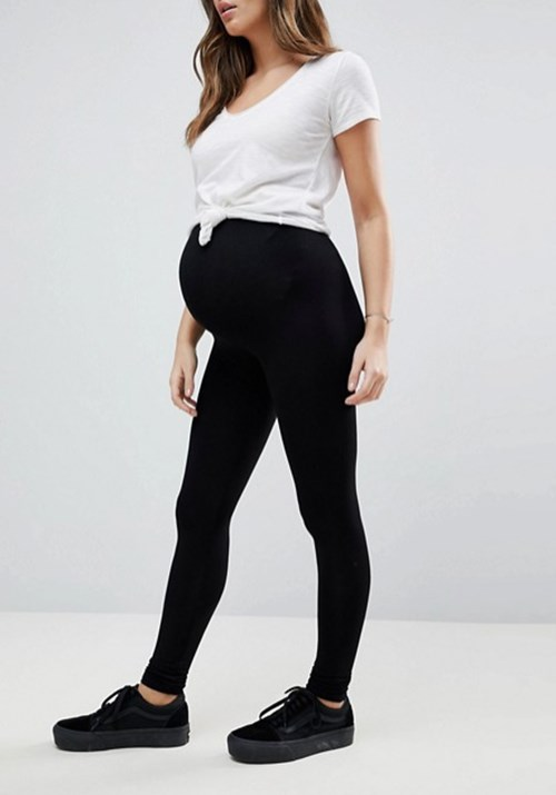 """These maternity leggings from [Asos](https://www.asos.com/au/asos-maternity/asos-design-maternity-over-the-bump-high-waisted-leggings-in-black/prd/9079933 target=""""_blank"""" rel=""""nofollow"""") are perfect for running errands! RRP $16.00. *(Image: Getty)*"""