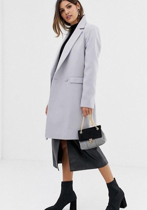 "This pea coat from [Asos](https://www.asos.com/au/asos-design/asos-classic-slim-coat/prd/8728950 target=""_blank"" rel=""nofollow"") will keep you and your bump snug through the winter months! RRP $92.50. *(Image: Asos)*"