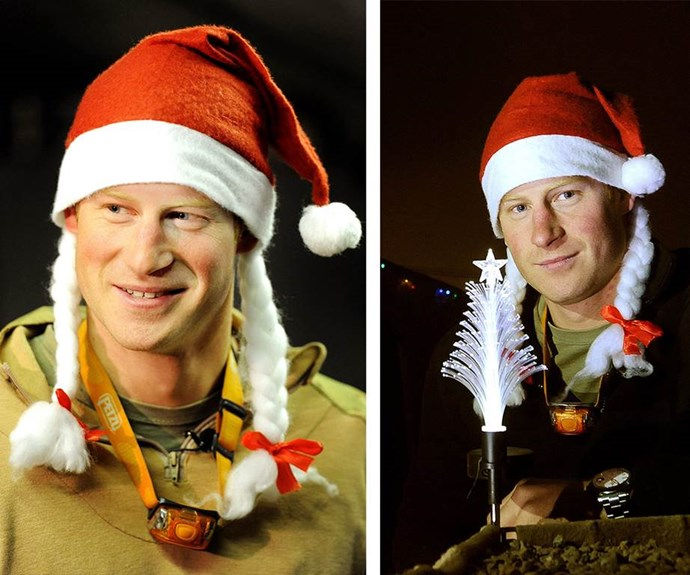 He's the Christmas jester! It doesn't get much better than Prince Harry in a Santa hat.