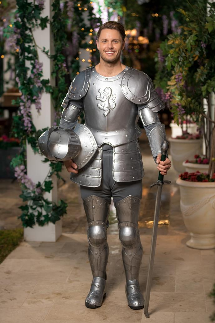 Todd showed up to the first cocktail party dressed as Ali's very own knight in shining armour.  <br><br> Though his armour squeaked and made him uncomfortable all night long, Todd committed to the bit and truly made an impression on the Bachelorette.