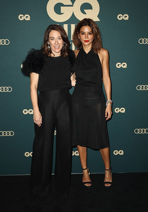 *Vogue Australia's*  Edwina McCann and Christine Centenera proved black is always the new black. *(Image: Getty)*