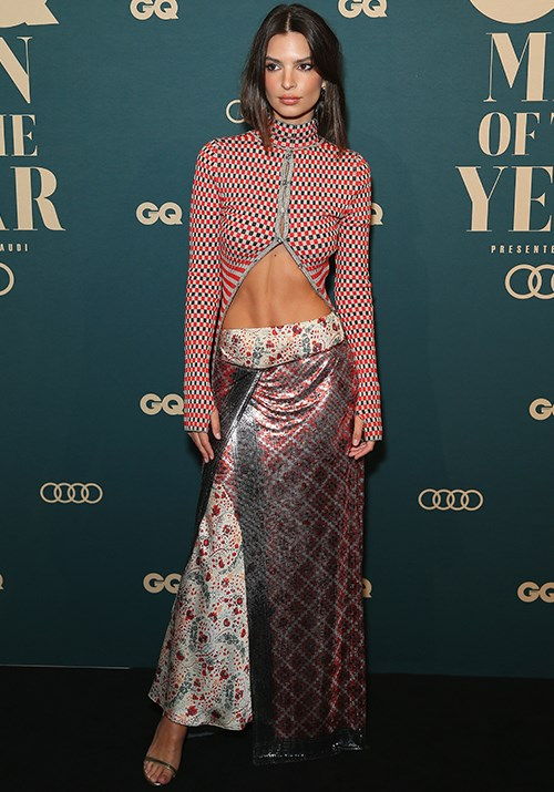 American model Emily Ratajkowski and her risque get-up took home the International Woman of the Year award at the event. *(Image: Getty)*