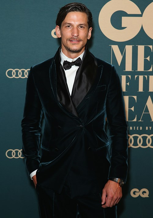 Australian model Jarrod Scott looked dapper in a velvet suit. *(Image: Getty)*